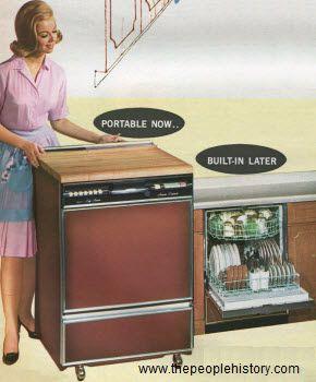 1966 Portable Dishwasher