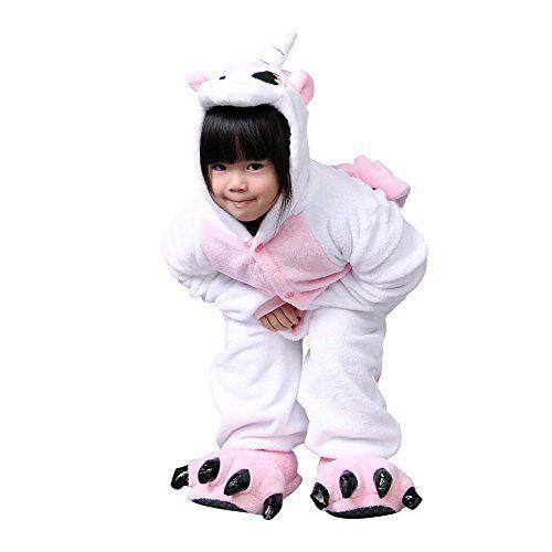 Pyjama Enfants Unisexe Animaux Pyjama Combinaison de Nuit Kigurumi Noel Halloween Cosplay Costume: Matériel; Flanelle Bon repport prix…