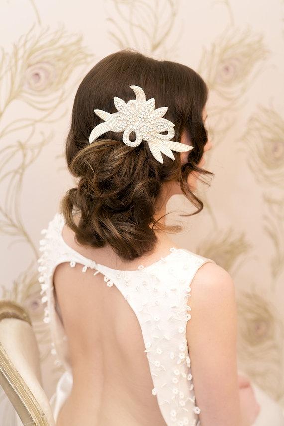 Pearl and Co Bridal, Wedding Hair Comb Diamante Rhinestones and Crystals 'Greta'
