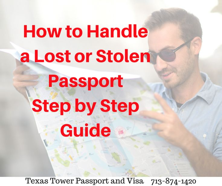 How to Handle a Lost or Stolen Passport Step by Step Guide. http://texastower.net/steps-to-take-if-your-passport-is-lost-or-stolen/  #StolenPassport #TravelTuesday #traveltip