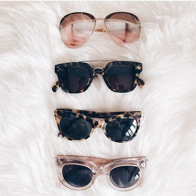 Miumiu sunglasses, Celine sunglasses, Norma kamali sunglasses