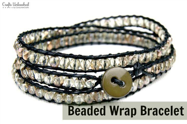 DIY Beaded Wrap Bracelet via blog.consumercrafts.com