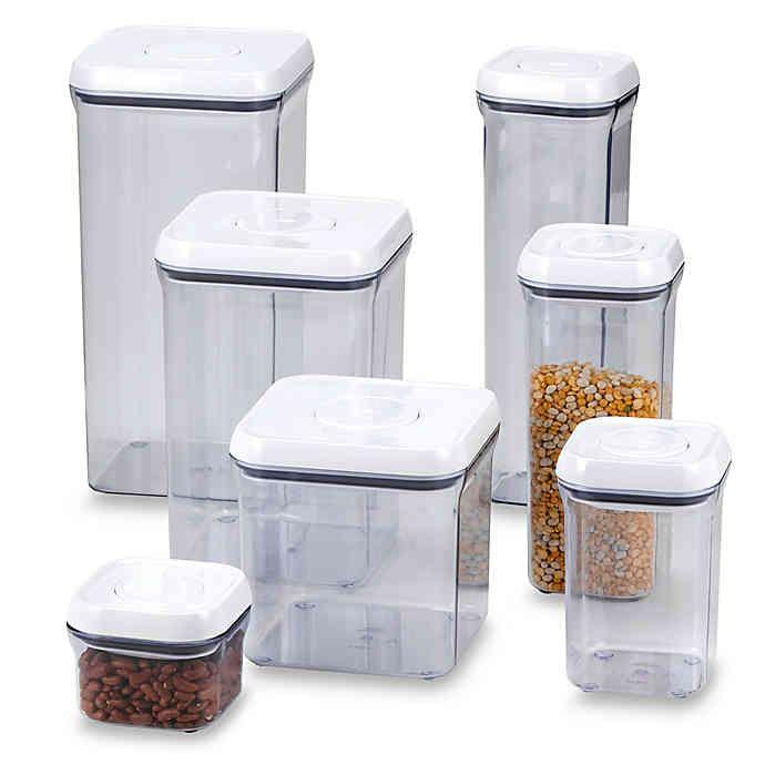 Oxo Good Grips Square Food Storage Pop Container Bed Bath Beyond Oxo Pop Containers Food Storage Containers Food Storage