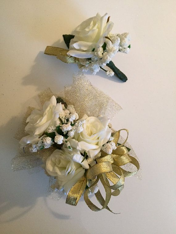 Golden Anniversary Corsage 50th by ForeverRememberToday on Etsy