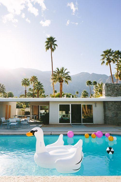 Palm Springs #poolside #california