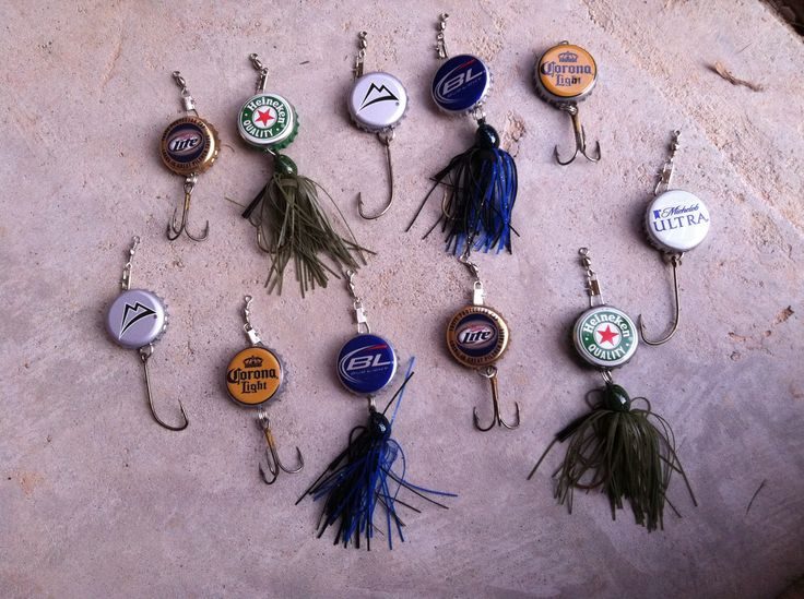 I finally did a pinterest craft diy beer bottle cap for Bottle cap fishing lure