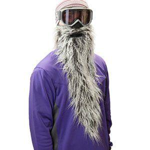 Beardski Easy Rider Masque de ski avec longue barbe Gris