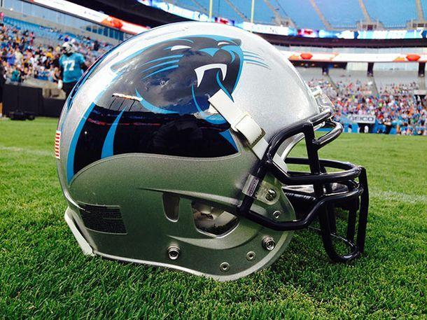 Carolina Panthers helmet at Fan Fest