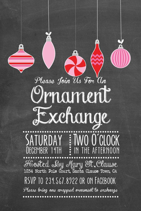10 Best Christmas Ornament Exchange Party Images On Pinterest