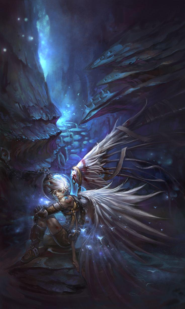 109 best images about angels demons on pinterest dark - Dark angel anime wallpaper ...