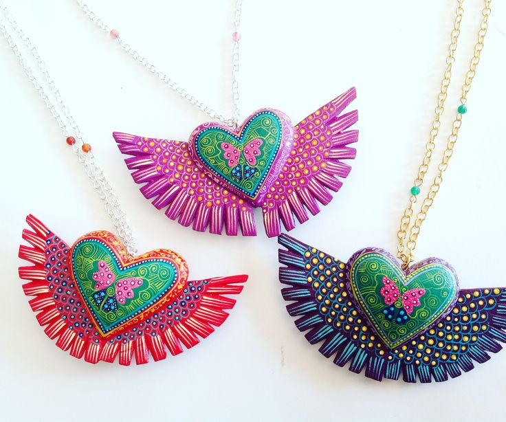 Hand Painted Mexican Necklaces