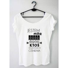 Time For Fashion Jestem miłą osobą / t-shirt biały