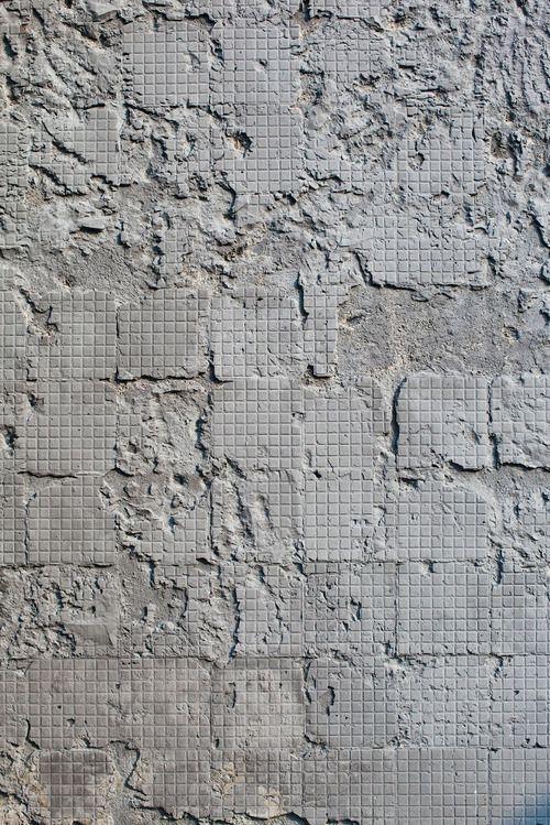 Gray | Grey | Gris | グレー | Grigio | серый | Gurē | Colour | Texture | Concrete wall after removal of the tiles ...