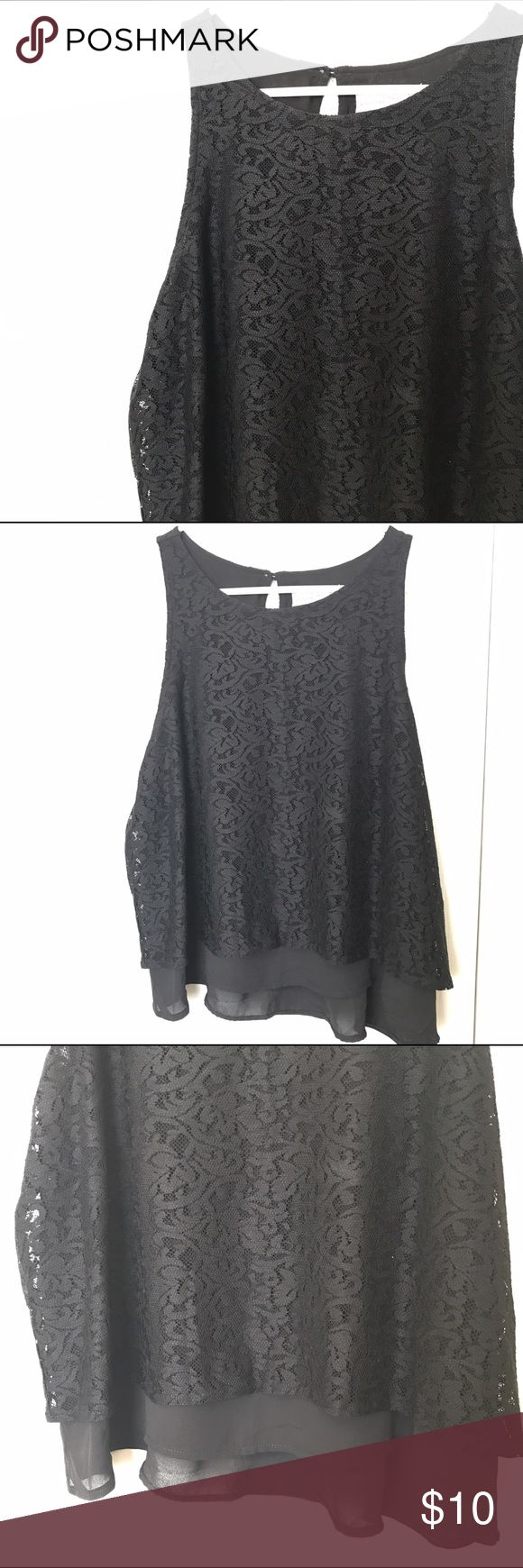 Lace tank Has a trim polyester outline on the bottom. Abercrombie & Fitch Tops