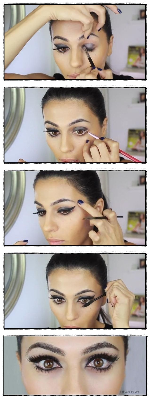 Maquillaje para ojos grandes http://chicastips.com/maquillaje-para-ojos-grandes/