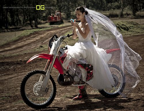 When you're late for your wedding, any ride will do...