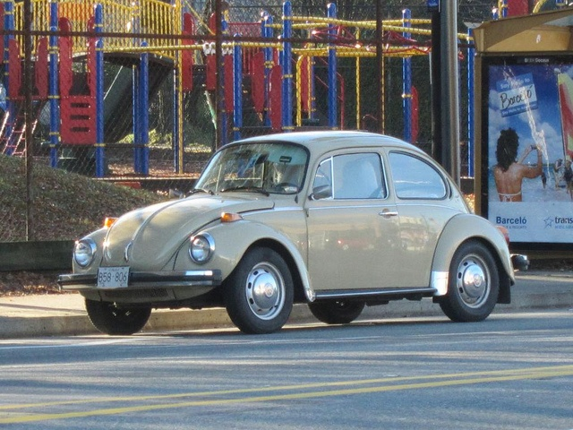 VW Super Beetle 1973-beige, my second car, I bought it myself!!  loved it!!!