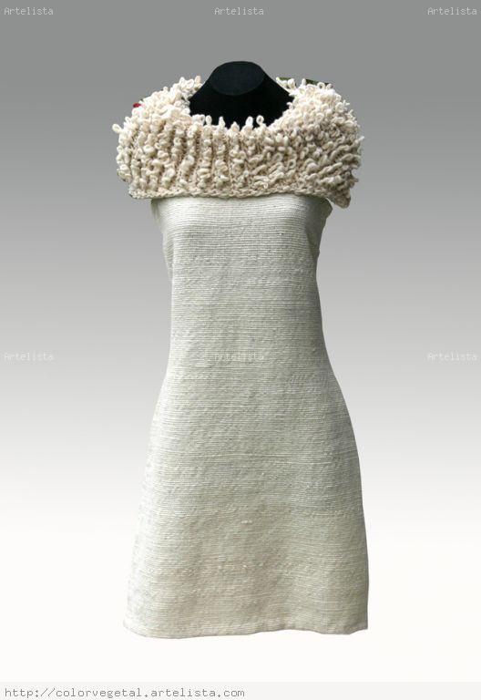 vestido en telar mapuche