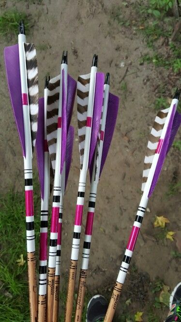 Hand crested and fletched arrows by Jo Arnold. Photo by Jo Arnold