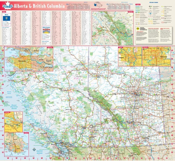 Map Of Bc And Alberta Canada Road Map of Alberta and BC | Canada map, Map, Wall maps