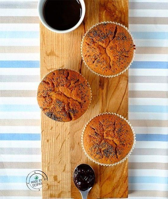 Muffin+integrali+ripieni+di+composta+di+frutti+di+bosco+ +casadivita.despar.it