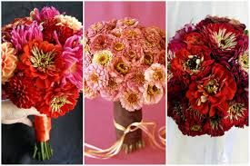 zinnia wedding flowers - pink zinnias right in the middle bouquet