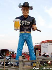 Sturgis, SD --  Beer Drinking Muffler Man. (Full Throttle Saloon)