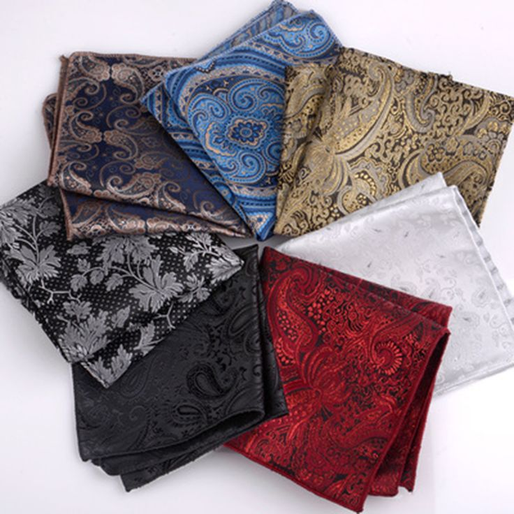 British Retro Paisley Pocket Square Men Suit Handkerchief Towel Fashion Korean Dress Breast handkerchief Free Shipping