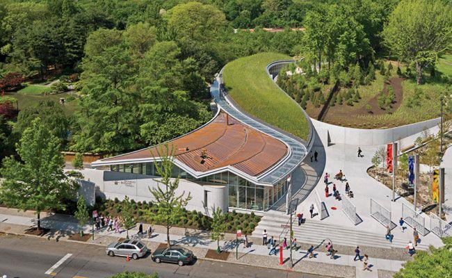 Brooklyn Botanic Garden Visitor Center by Weiss/Manfredi  fue impermeabilizado…
