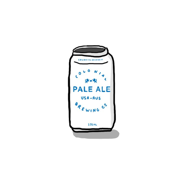 Colonial Brewing Co Pale Ale  #Beer #craftbeer #melbourne #perth #brewery #microbrewery #alcohol #paleale #illustration #illustrate #doodle #doodles #drawing #sketch #sketchbook #handmade #handdrawn