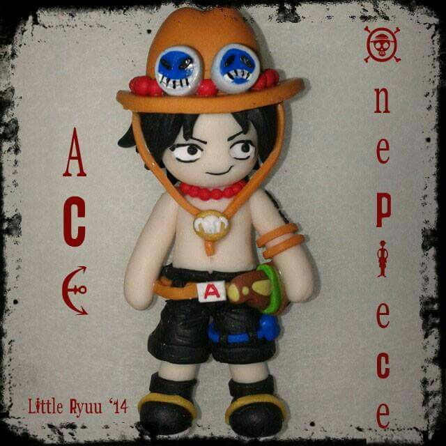 Fimo doll Ace from one piece