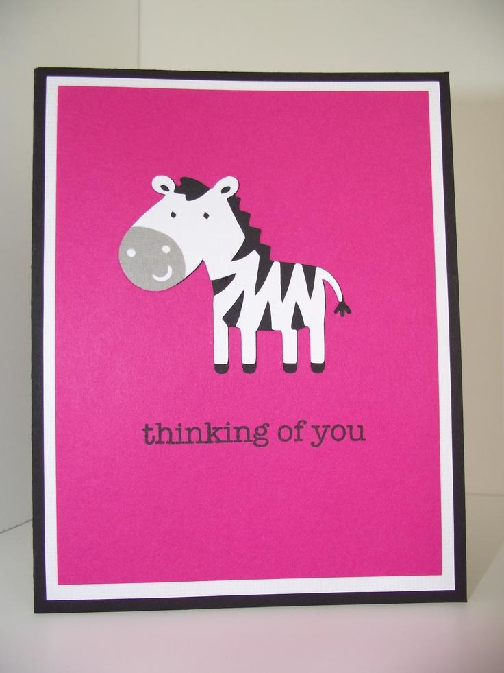 Cricut Create A Critter - Thinking of you card - zebra ...