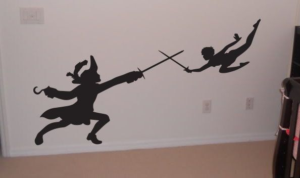 Wall Decal, Peter pan, Captain hook, Wendy, Nursery, Disney, lost boys, room decor, birthday gift,  by OTRengraving on etsy. $36.00, via Etsy.
