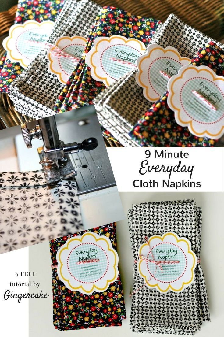 Cute Easy And Fast Cloth Napkins Tutorial These Diy Napkins Are