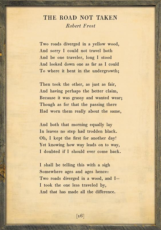 The Road Not Taken - Poetry Collection