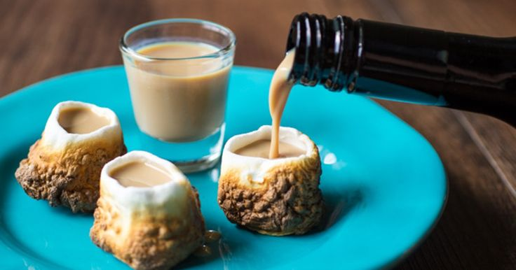 Jell-O shots are sooo 2013, because toasted marshmallow shots are here, and they're glorious. And sticky. Cheri Alberts, of YouTube's The Watering Mouth, teaches all of us how to make our very own toasted marshmallow shot glass. All you need are mars