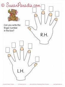 Finger Numbers for Beginners  Lesson worksheets