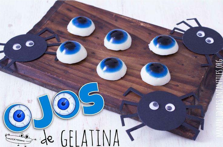 ¿Cómo hacer ojos de gelatina para Halloween? Ingredientes para 12 ojos Para la pupila y el iris 1 lámina de gelatina neutra 100 ml de agua 50 gr de azúcar colorante negro y azul Para la córnea 2 láminas de...