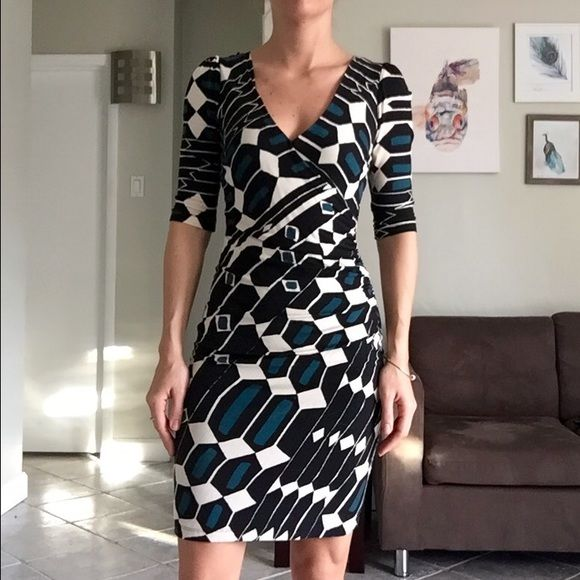 Plenty By Tracy Reese Dress Great work dress, excellent condition. Pleat detail across chest and side, fully lined . XS/Petite Tracy Reese Dresses Midi