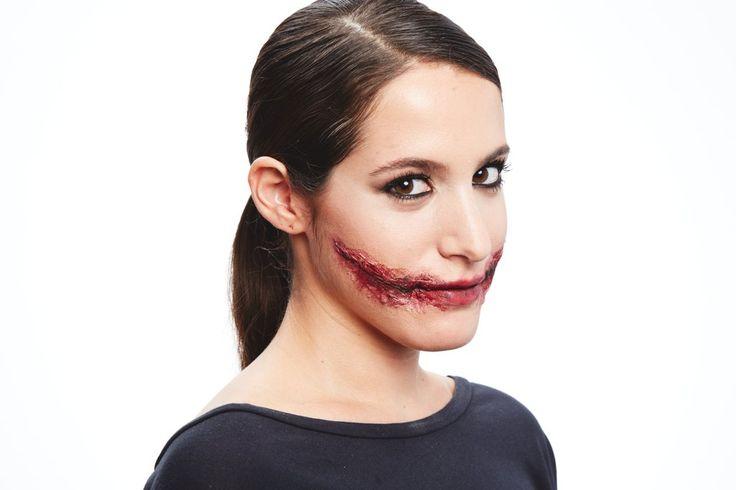 Costume ideas for a mouth slit: The Joker, Bride of Frankenstein                   Image Source: POPSUGAR P...