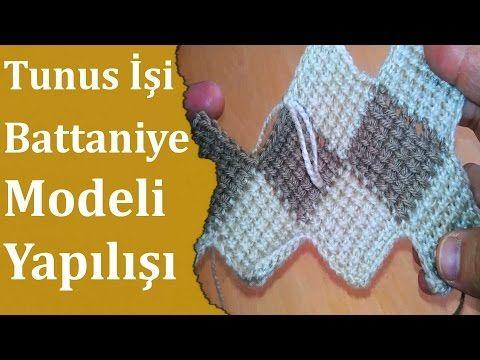 Tunus İşi Battaniye Yapılışı | Örgü Delisiyim