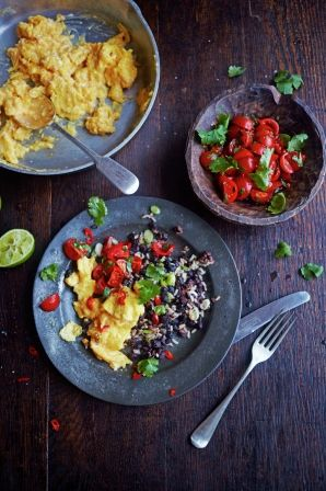 Gallo pinto   Jamie Oliver - I'm enjoying the black bean side of things - maybe with nachos?