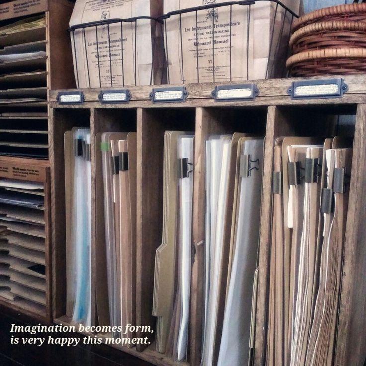 ダイソー板材で作る書類収納棚☺|choco-choco☺Diary
