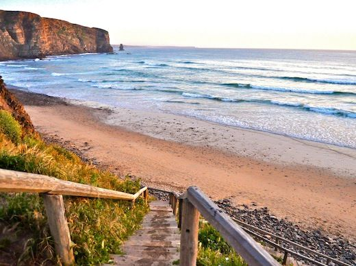 Aljezur, Portugal: Not Just a Surfer's Paradise - via Travelogged 13.06.2013 | Aljezur, Portugal, may be best known for its surfing and surf schools, but there's also hiking, horseback riding and and a castle for sightseeing. Photo: Praia da Arrifana also is a great place to go for a sunset stroll. Photo by Elizabeth Montalbano.