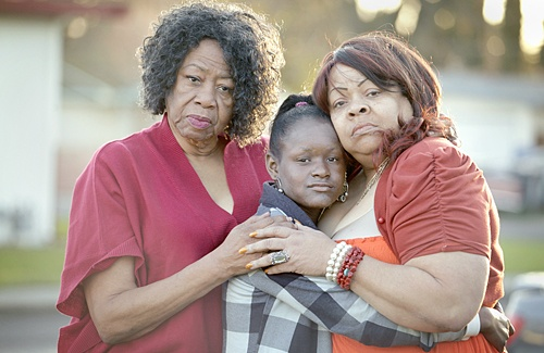 Angeleah Rogers, 10, was only six months old when her mother, Keenya Nicole Cook, was shot and killed in Tacoma, Wash. in what is believed to be one of the first murders by the Beltway Snipers, John Allen Muhammad and Lee Boyd Malvo. She now lives in Fairfield with her great-grandmother, Jean Nichols, left, and grandmother, Pamala Nichols. (Brad Zweerink/Daily Republic)    sniper fairfield, 2/14/12 | Daily Republic