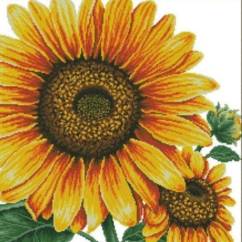 Sunflower Cross Stitch Pattern Chart