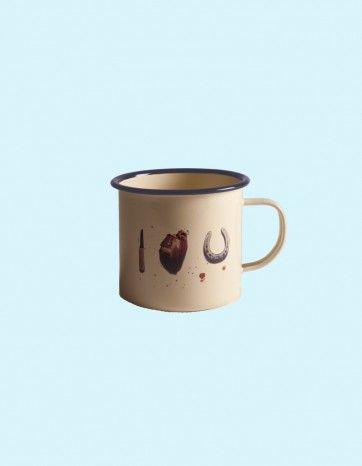 Metal Enamel Mug - I LOVE U