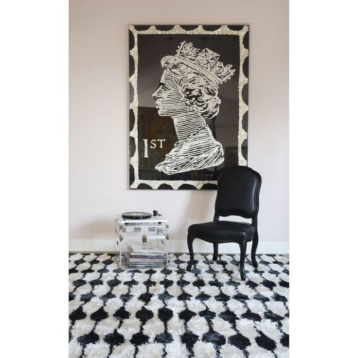 "Novogratz by Momeni Retro Stocking Rug (5' x 7'6) (Black (5' x 7'6"")), Size 5' x 7'6"" (Polyester, Graphic)"