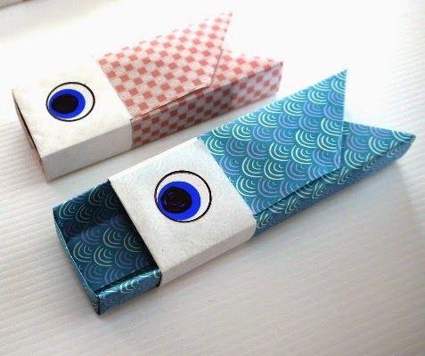Kawaii*折り紙*チュートリアル♪: ■5月の折り紙*箱の鯉のぼり*折り方♪