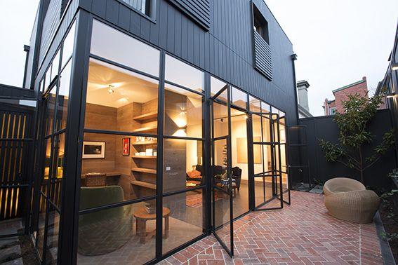 exterior courtyard shot house by matt martino